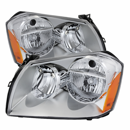Xtune Dodge Magnum 05-07 Crystal Headlights - Chrome