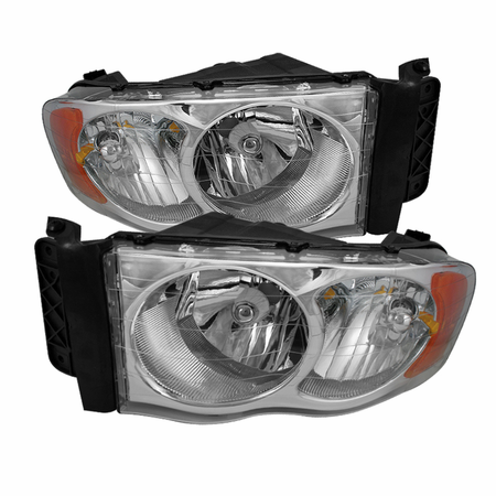 Xtune Dodge Ram 1500 02-05 / Dodge Ram 2500/3500 03-05 Amber Crystal Headlights - Chrome