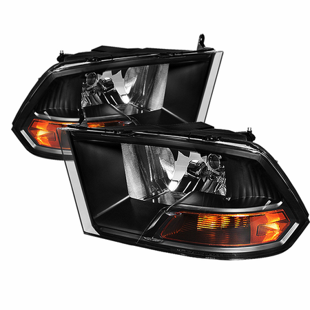 Xtune Dodge Ram 1500 09-12 ( Non Quad Headlights ) Crystal Headlights - Black