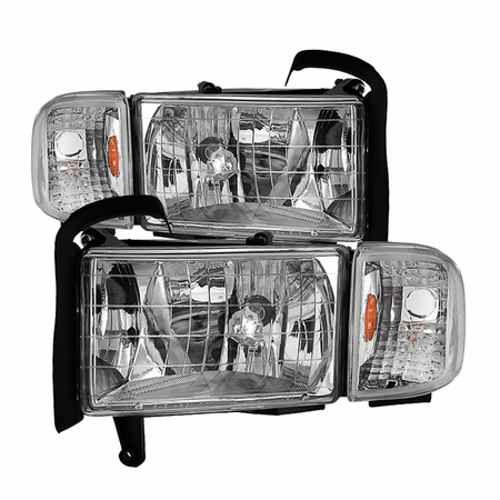Xtune Dodge Ram 1500 94-01 ( 99-01 Don't Fit Sport Package Models ) / Ram 2500 3500 94-02 Headlights with Corner Lamps - OEM