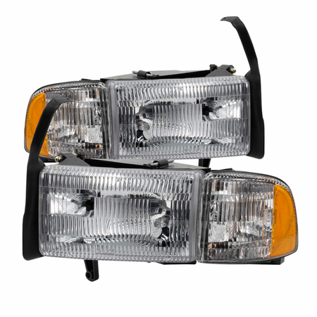 Xtune Dodge Ram 1500 94-01 (don't fit Sport Package )/ Ram 2500 3500 94-02  OEM Style headlights With Corner - Chrome