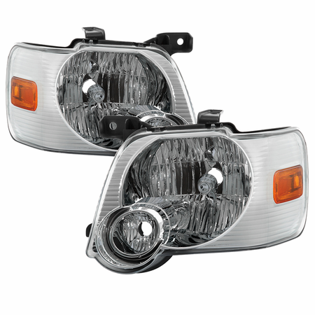 Xtune Ford Explorer 2006-2010 OEM Style Headlights - Chrome