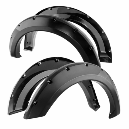 Xtune Ford F150 2004-2008 (Except Heritage Model) Paintable Bolt-on Style Fender Flares -Smooth Black