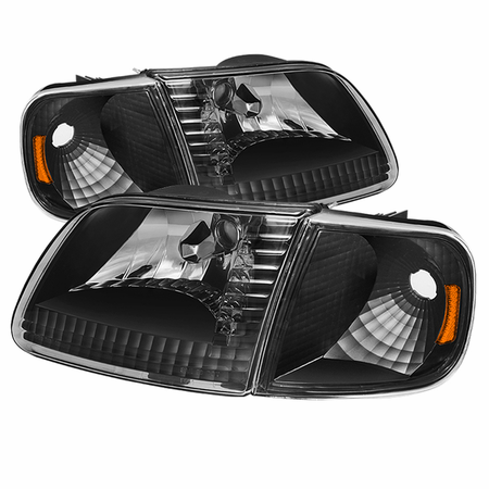 Xtune Ford F150 97-03 / Expedition 97-02 Crystal Headlights w/Corner - Black