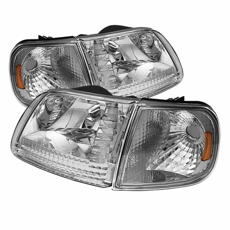 Xtune Ford F150 97-03 / Expedition 97-02 Crystal Headlights w/Corner - Chrome