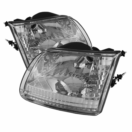 Xtune Ford F150 97-03 / Expedition 97-02 ( Will Not Fit Anything Before Manu. Date June 1997 ) Crystal Headlights - Chrome