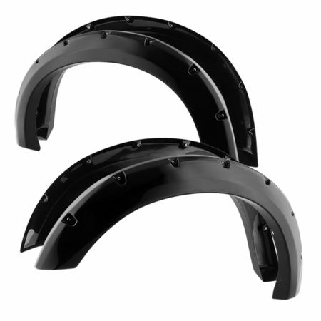 Xtune Ford F250/F350/F450 Superduty (Except Dually Models) 2008-2010 Paintable Bolt-on Style Fender Flares - Smooth Black