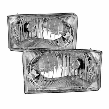 Xtune Ford F250 F350 F450 Superduty Excursion 99-04 OEM Style Headlights - Chrome