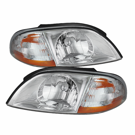 Xtune Ford Windstar 99-03 Crystal Headlights - Chrome