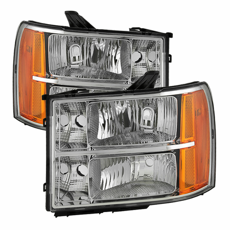 Xtune GMC Sierra 07-13 Crystal Headlights - Chrome