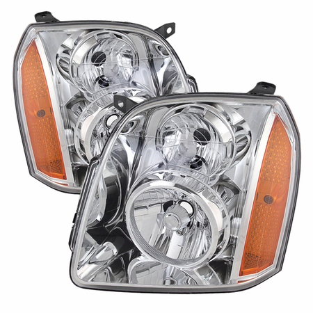 Xtune GMC Yukon/Yukon XL 07-14 ( Don't fit Denali Model ) Crystal Headlights - Chrome