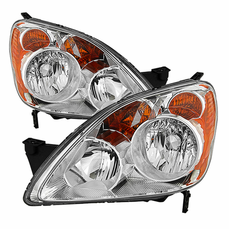 Xtune Honda CRV (Japan Built Models Only) 2005-2006 ( Don't Fit UK Built Models ) OEM Style Headlights - Chrome