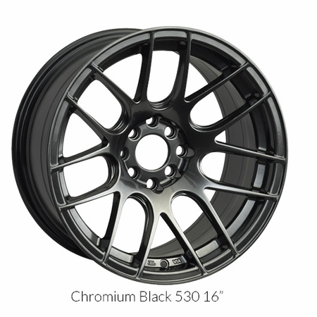 XXR Wheel Rim 530 18X8.75 5x112 ET33 66.6CB Chromium Black