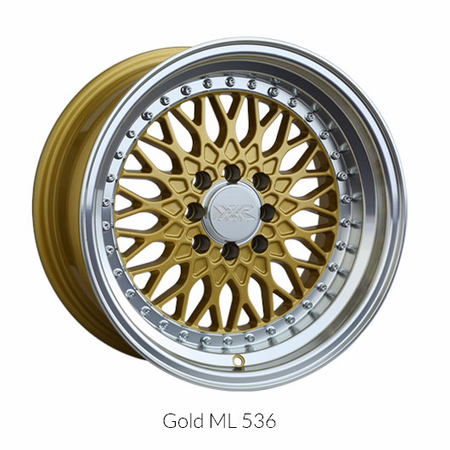 XXR Wheel Rim 536 17X9 5x100/5x114.3 ET25 73.1CB Gold / ML
