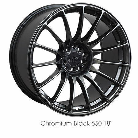 XXR Wheel Rim 550 17X8.25 5x100/5x114.3 ET36 73.1CB Chromium Black