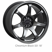 XXR Wheel Rim 551 15X8 4x100/4x114.3 ET21 73.1CB Chromium Black