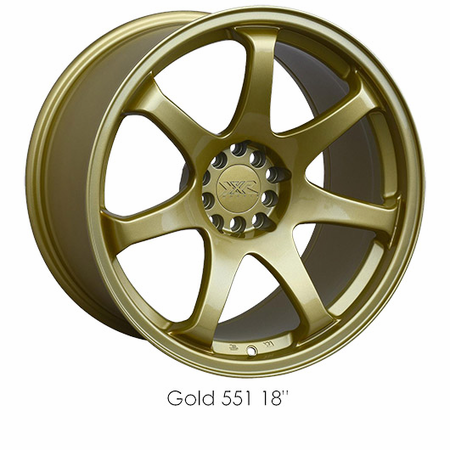 XXR Wheel Rim 551 15X8 4x100/4x114.3 ET21 73.1CB Gold