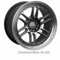 XXR Wheel Rim 552 18X8.5 5x100/5x114.3 ET36 73.1CB Chromium Black / ML