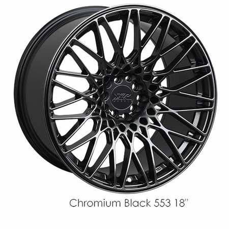 XXR Wheel Rim 553 20X9.25 5x114.3/5x120 ET16 73.1CB Chromium Black