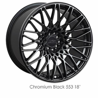 XXR Wheel Rim 553 17X8.25 5x100/5x114.3 ET22 73.1CB Chromium Black