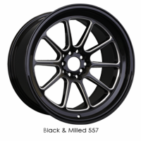 XXR Wheel Rim 557 15x7 4x100/4x114.3 ET15 73.1CB Black / Milled