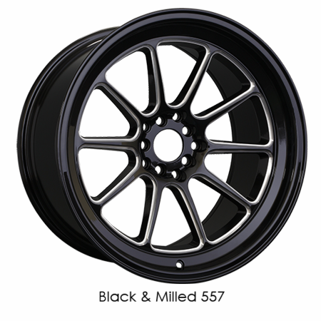 XXR Wheel Rim 557 17x8 5x100/5x114.3 ET15 73.1CB Black / Milled