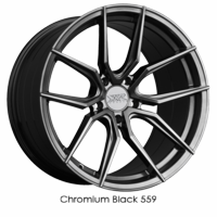 XXR Wheel Rim 559 18x8.5 5x114.3 ET35 73.1CB Chromium Black