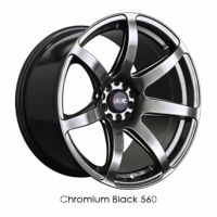XXR Wheel Rim 560 18x8.5 5x100/5x114.3 ET20 73.1CB Chromium Black
