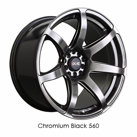 XXR Wheel Rim 560 18x8.5 5x100/5x114.3 ET35 73.1CB Chromium Black