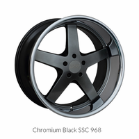 XXR Wheel Rim 968 17X9 5x114.3 ET35 73.1CB Chromium Black / SSC