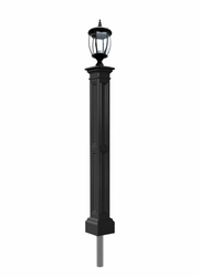 Black Yard Lamp - Mayne Post Liberty Series with Light Fixture