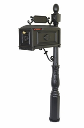 Curbside Mailbox with Address Plaque and Ornamental Post - MB250