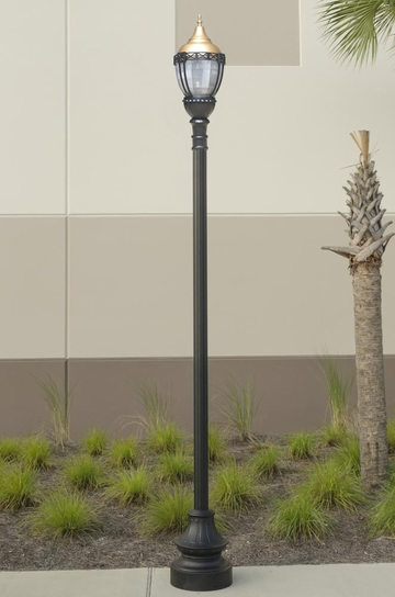 Premier Municipal Quality Street Light Package with Gold Globe