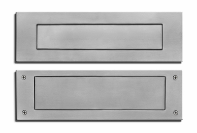 Stainless Steel Mail Slot (front & rear pieces)
