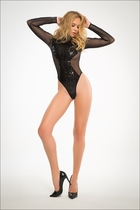 Adore A1022 Glamorous Sequins & Sheer Bodysuit