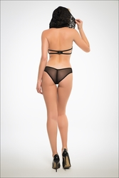 Adore A1024 Flirty & Coy Hooded Lace Bra And Panty