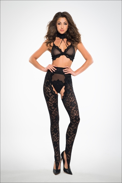 Adore A1026 Wild Lace Chaps, Panty And Bra