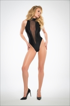 Adore A1028 Whisper To Me In Sheer, Sleeveless Bodysuit With Plunging Front