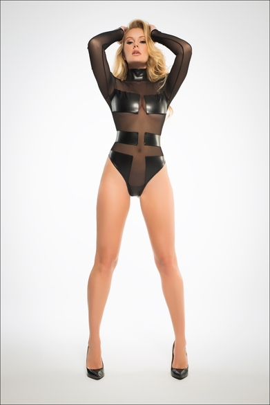 Adore A1031 Geometric Sleek Sheer Bodysuit