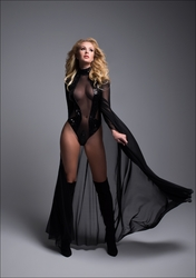 Adore A1032 Enchanting Sleeveless Sequins & Sheer Bodysuit