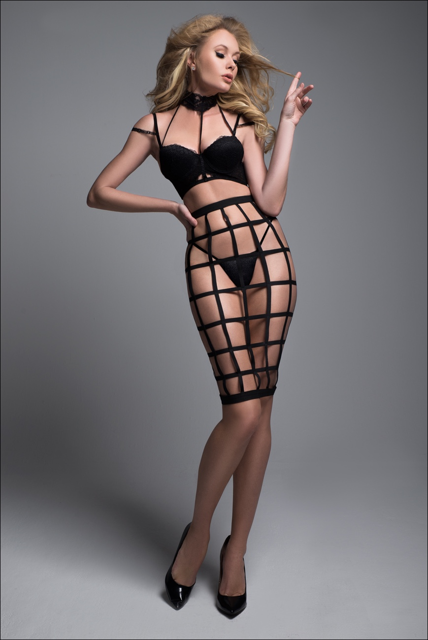 Adore A1034 Luscious Cage Skirt With Provocative Lace Bra 92c1553a7