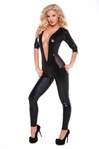 Allure 10-1052K Wet Look Mesh Catsuit
