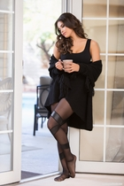 Allure 7-1502 Wet-Look Stay-Up Tights