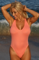 California Peach One Piece Bathing Suit