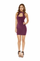 Clubwear Partially Lined Cutout Top Mini Dress