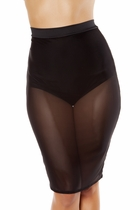 Clubwear Sheer Mesh Skirt with Attached Shorts