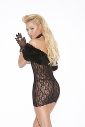 Elegant Moments 8527 Cupless Lace Dress