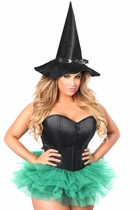 Daisy Corset LV-417 Flirty Green Witch Corset Costume