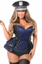 Daisy LV-1004 5 PC Officer Frisky Corset Costume