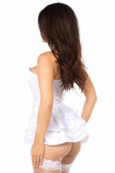 Daisy Corsets LV-175 White Satin Corset w/Removable Snap on Skirt
